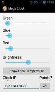 Android App 2.0 7 Segment Uhr