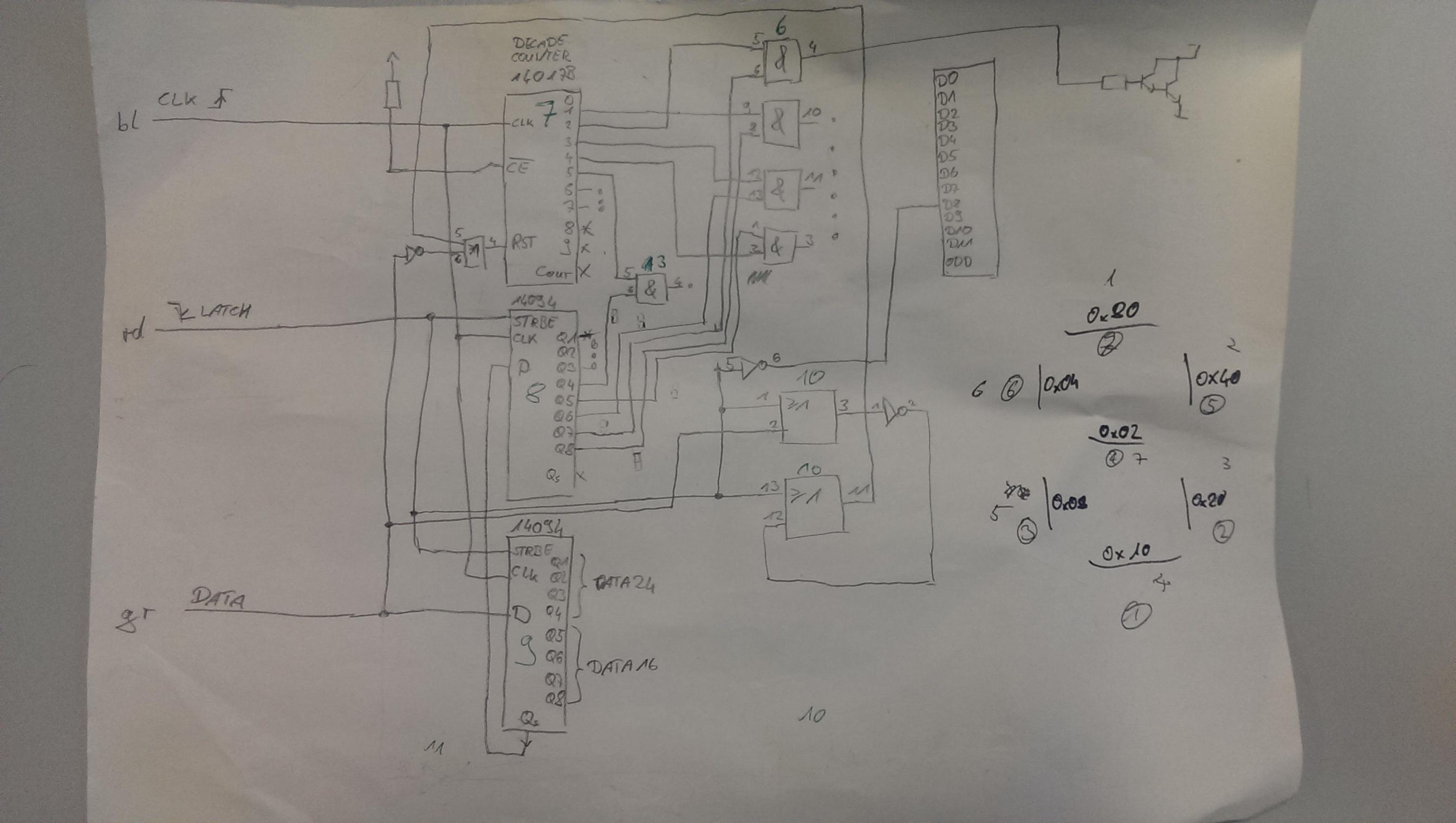Mechanisches 7-Segment Display – 42Volt