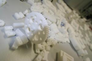 Plastikteile des 3D Druckers